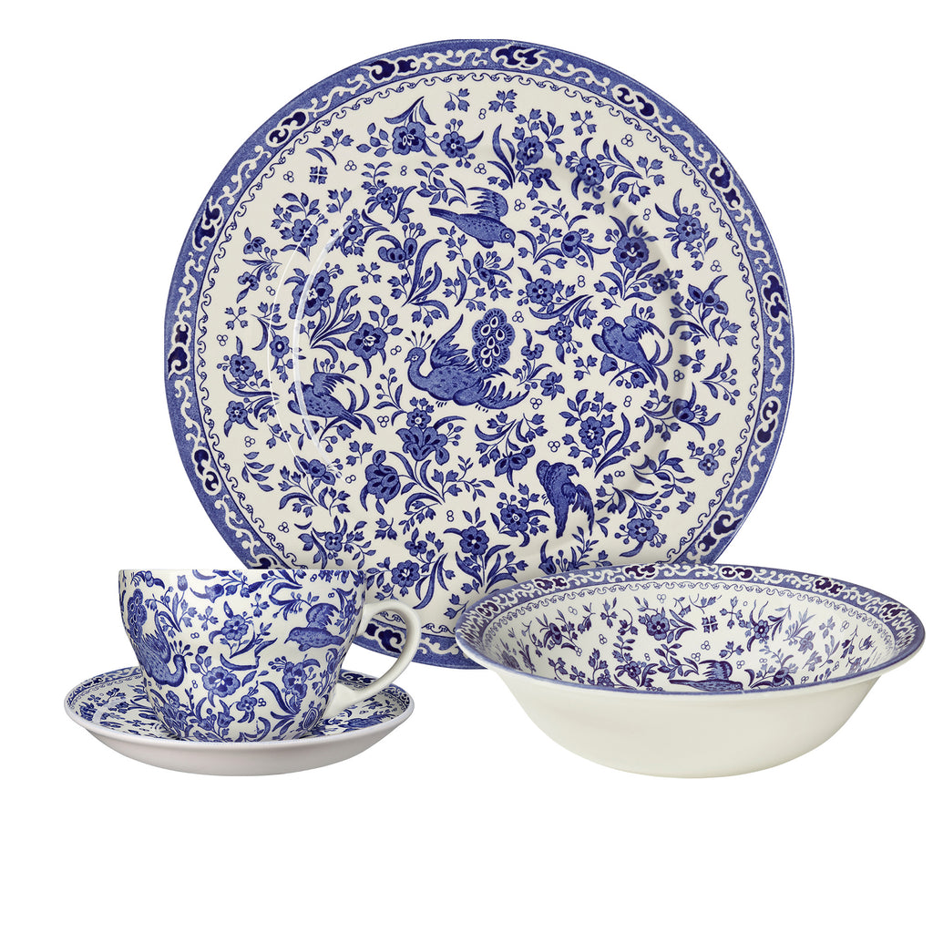 Blue Regal Peacock Breakfast Set