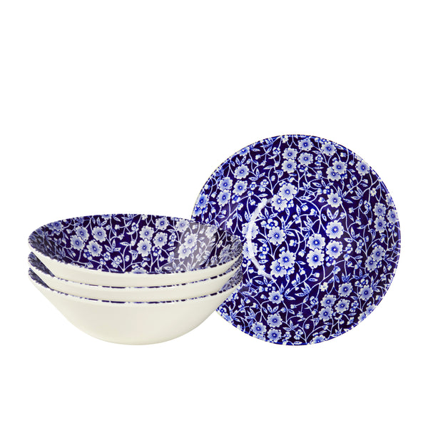 Blue Calico Cereal Bowl set of 4