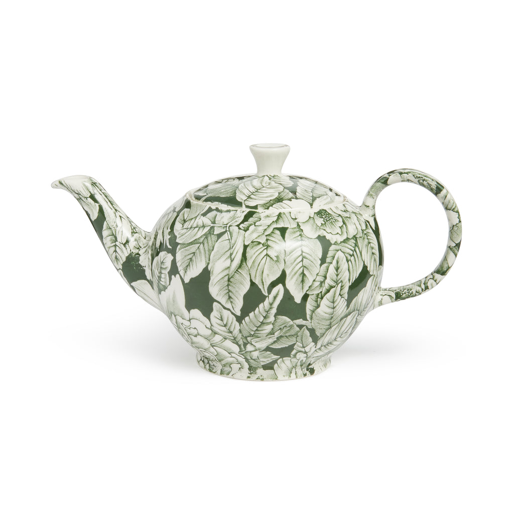 Soho Home Green Hibiscus Large Teapot