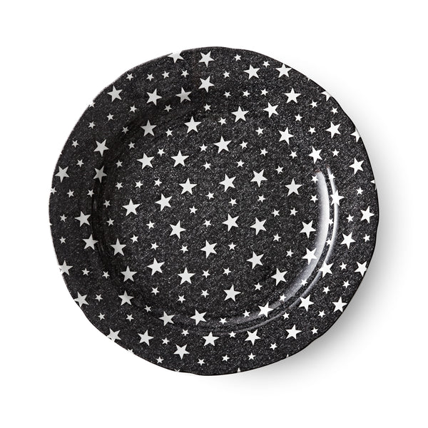 Midnight Sky Dark Black Dinner Plate
