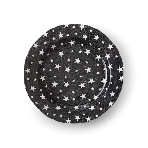 Midnight Sky Dark Black Salad Plate
