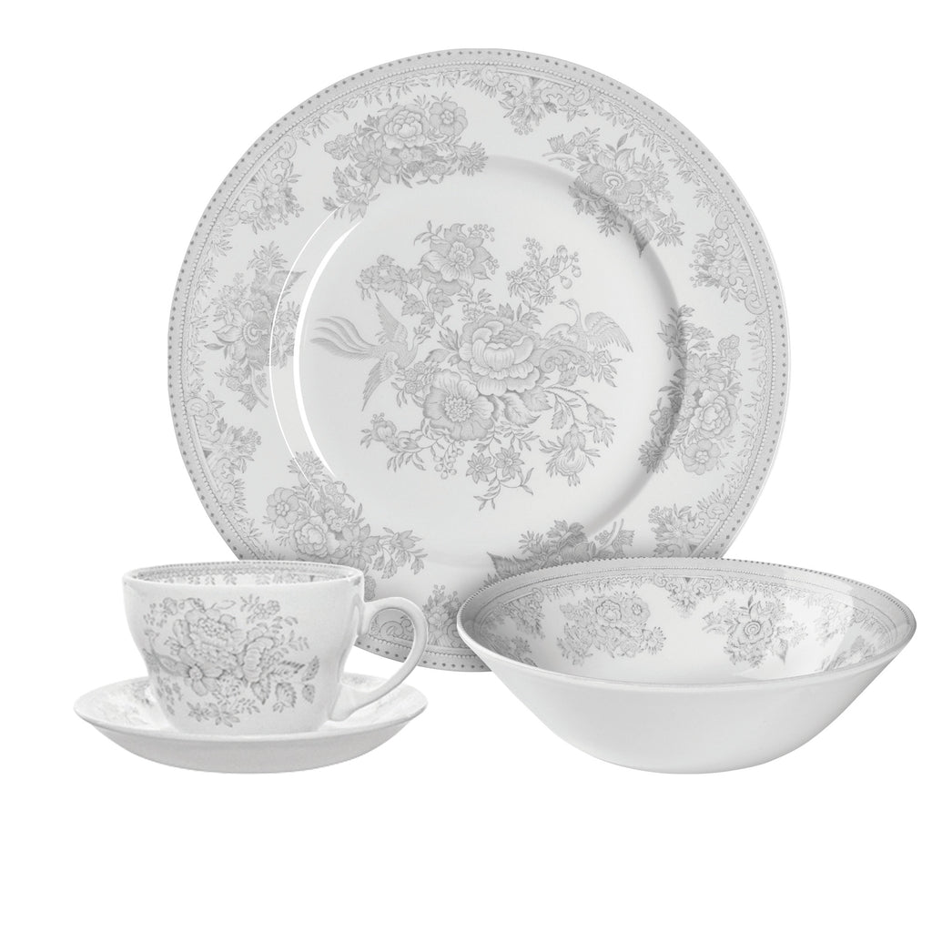 Dove Grey Asiatic Pheasants Breakfast Set