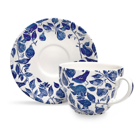 Burleigh x Highgrove Orchard Breakfast Cup and Saucer