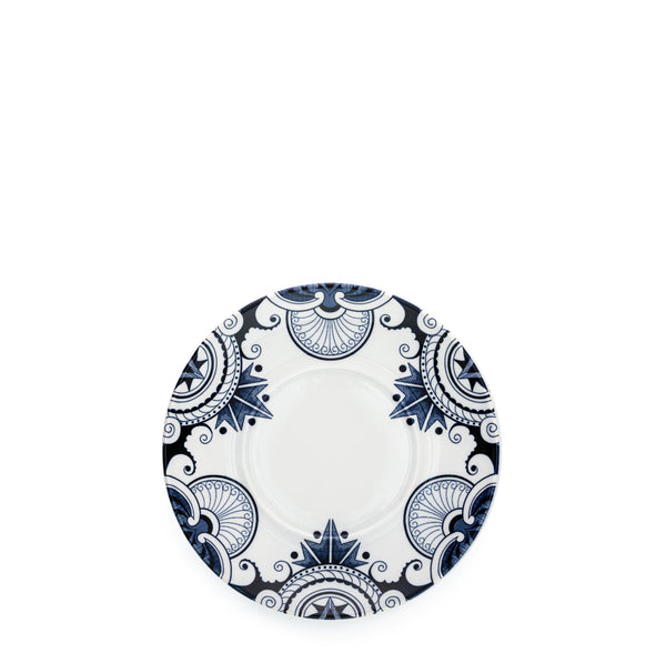 Ink Blue Palisade Coffee Saucer