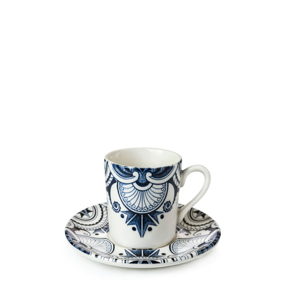 Ink Blue Palisade Espresso Cup and Saucer