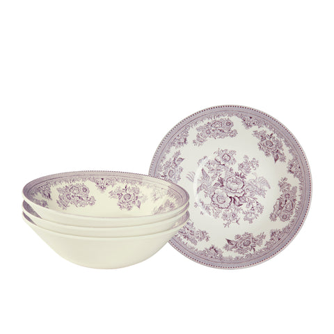 Plum Asiatic Pheasants Cereal Bowl set of 4