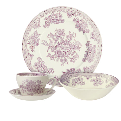 Plum Asiatic Pheasants Breakfast Set