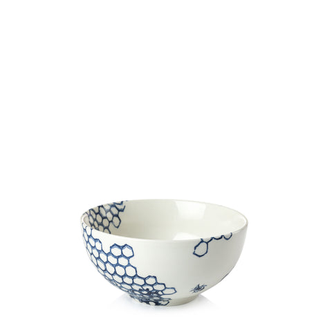 Ink Blue Pollen Small Footed Bowl