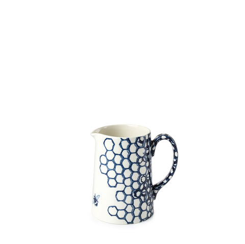 Ink Blue Pollen Tankard Jug 1/2pt Seconds