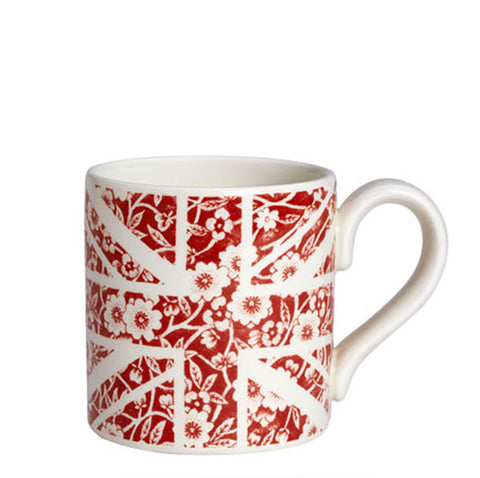 Red Calico Union Jack Mug