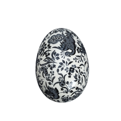 Black Regal Peacock Egg Trinket Box