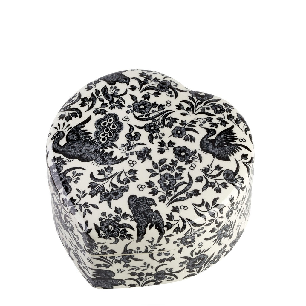 Black Regal Peacock Trinket Box