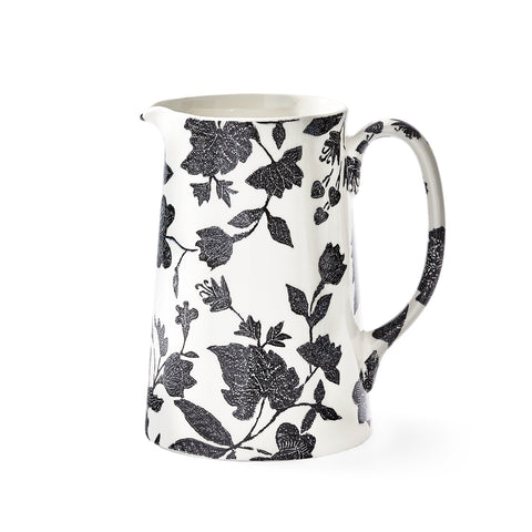 Garden Vine Black Tankard Pitcher