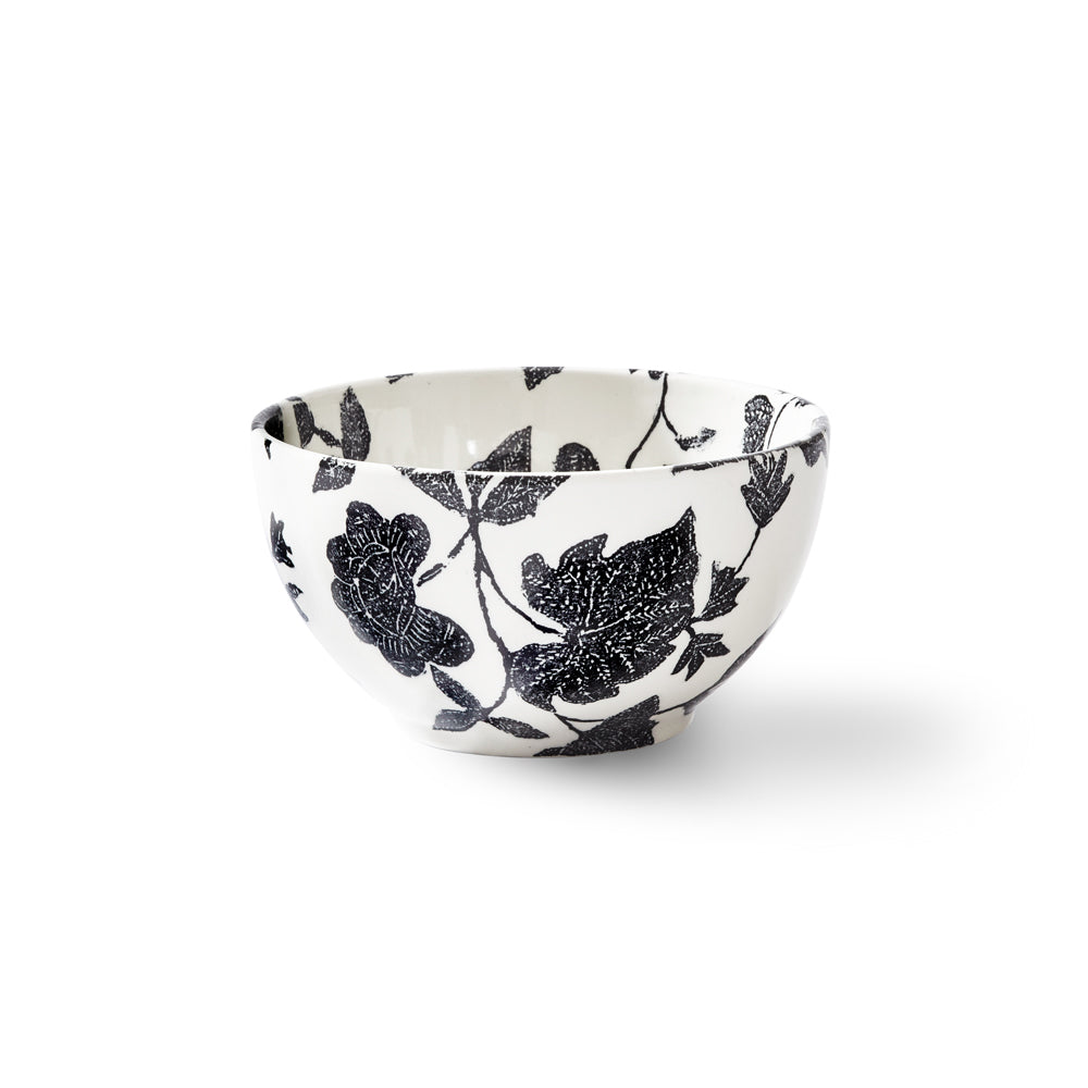 Garden Vine Black Mini Footed Bowl