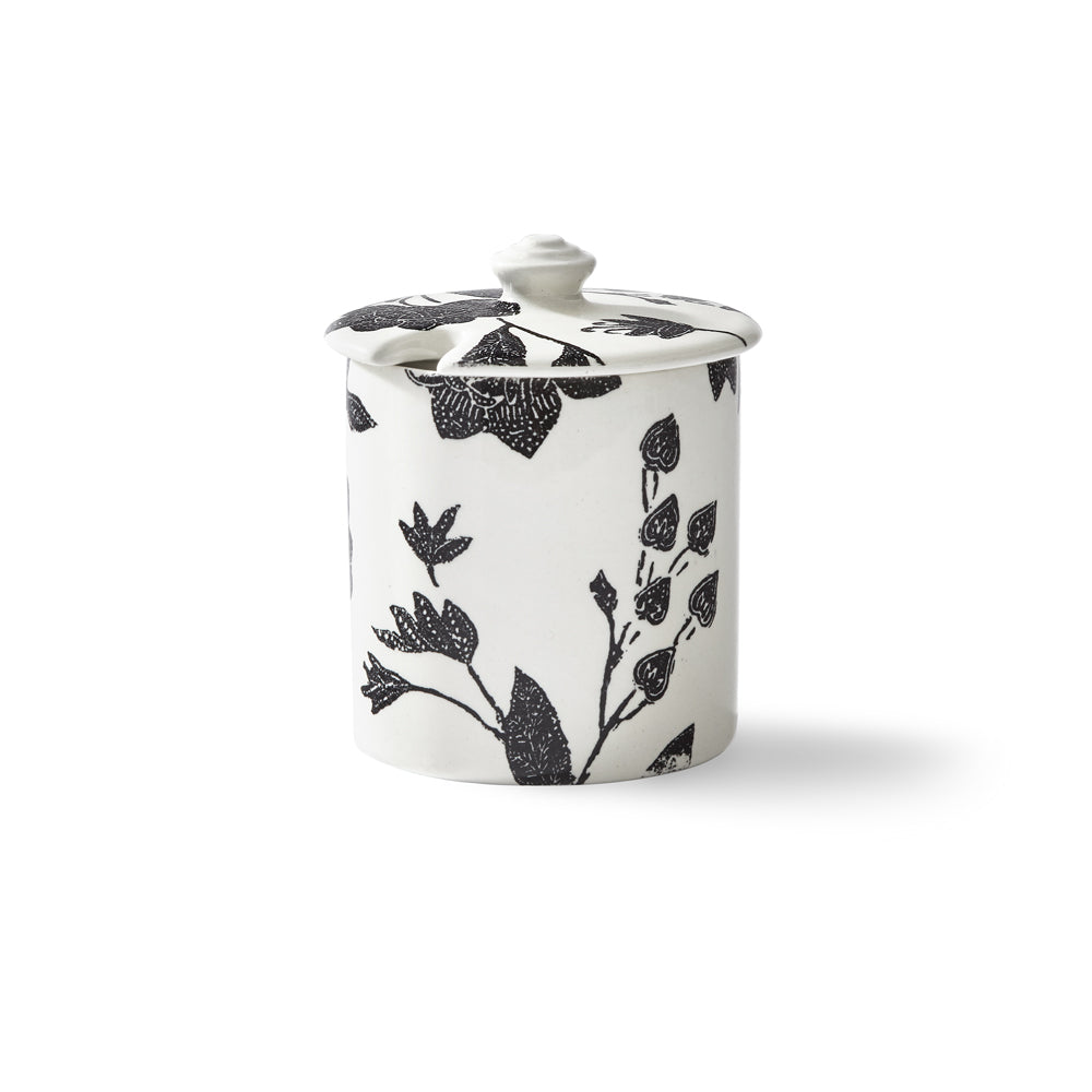 Garden Vine Black Sugar Pot