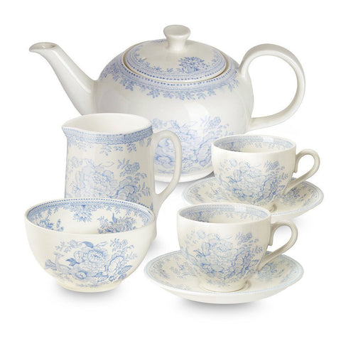 Blue Asiatic Pheasants Tea Set