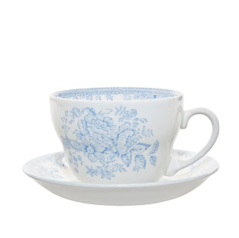 Blue Asiatic Pheasants Breakfast Cup and Saucer