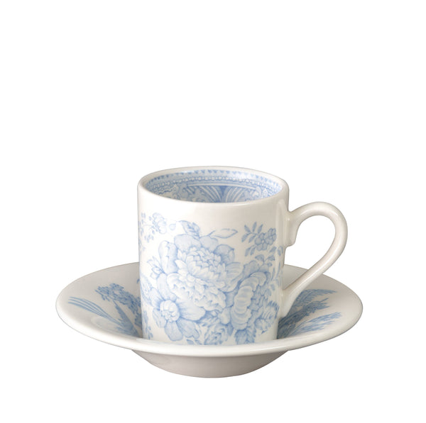 Blue Asiatic Pheasants Espresso Cup And Saucer