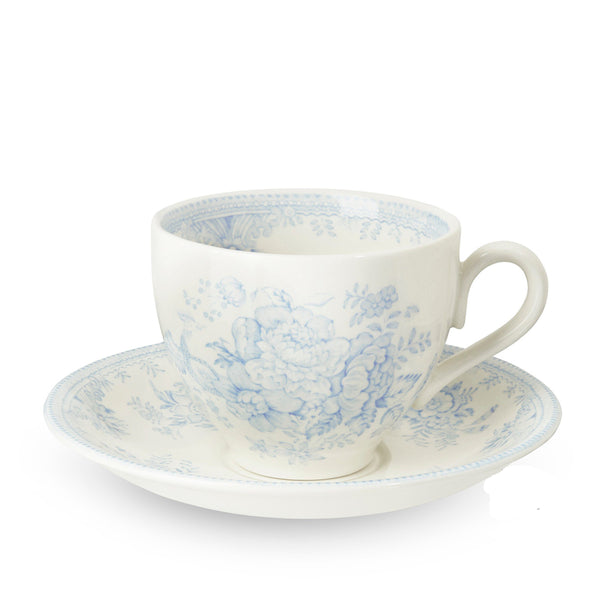 Blue Asiatic Pheasants Teacup and Saucer
