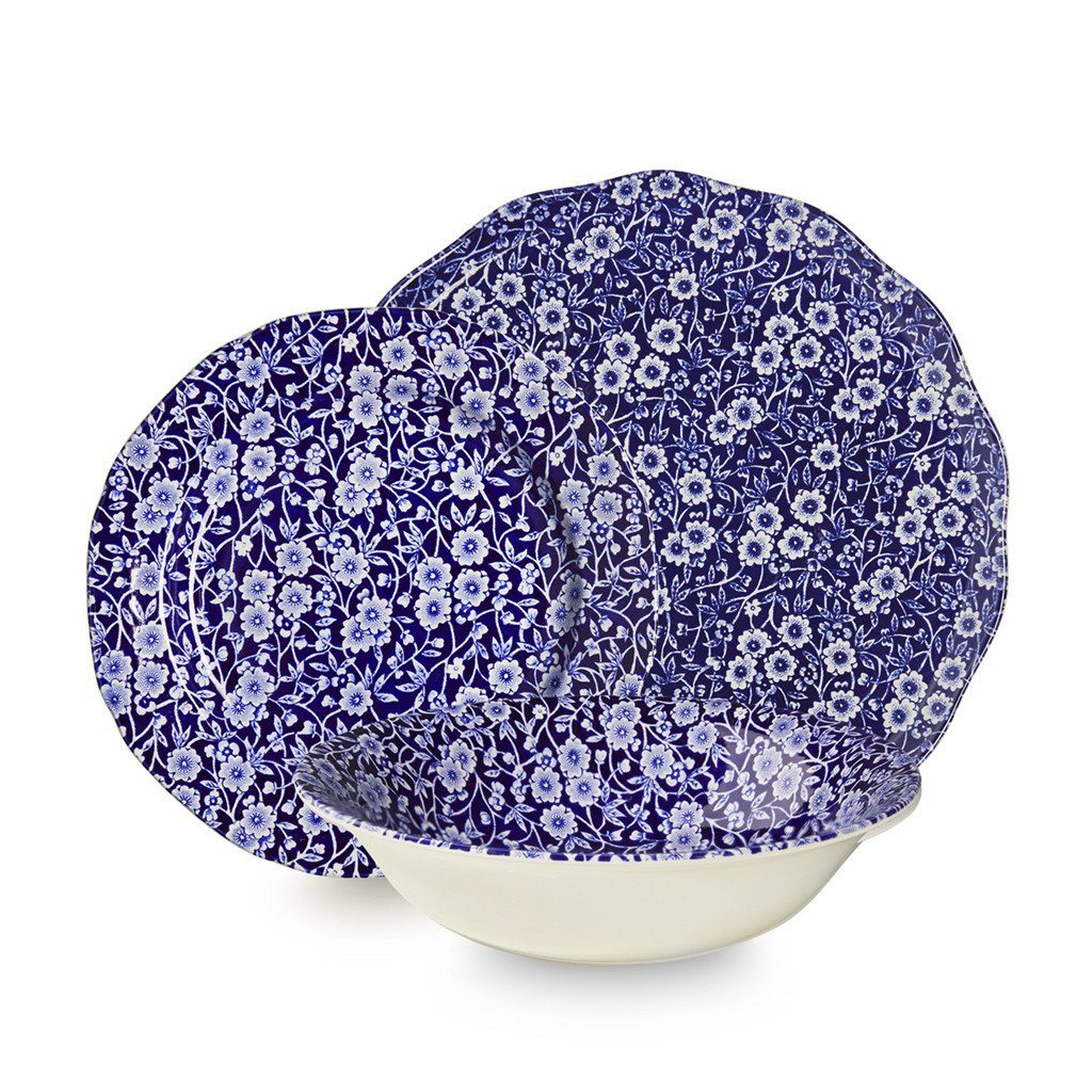 Blue Calico 12 Piece Place Setting