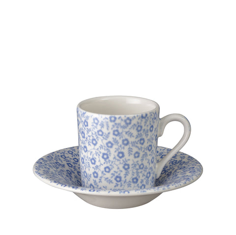 Blue Felicity Espresso Cup and Saucer