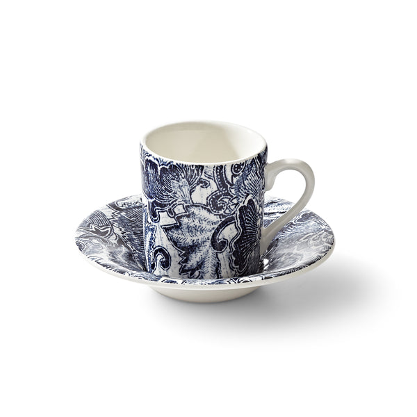 Faded Peony Indigo Espresso Cup and Saucer
