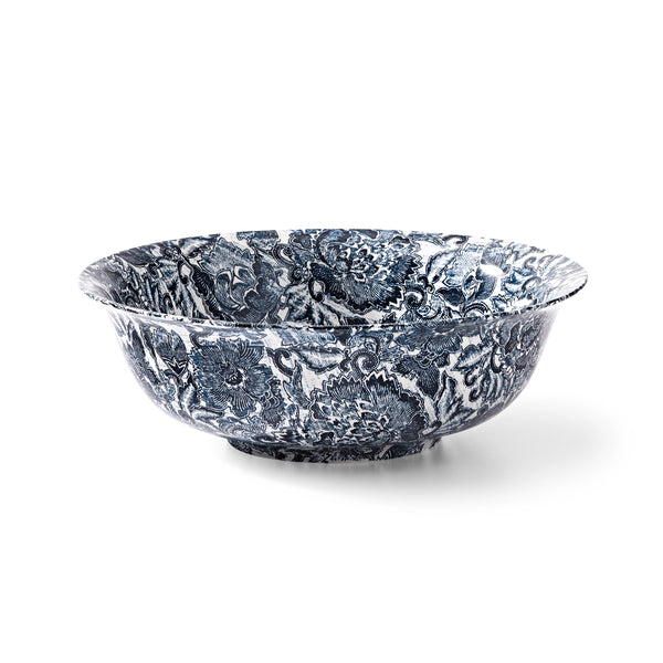 Faded Peony Indigo Fruit Bowl