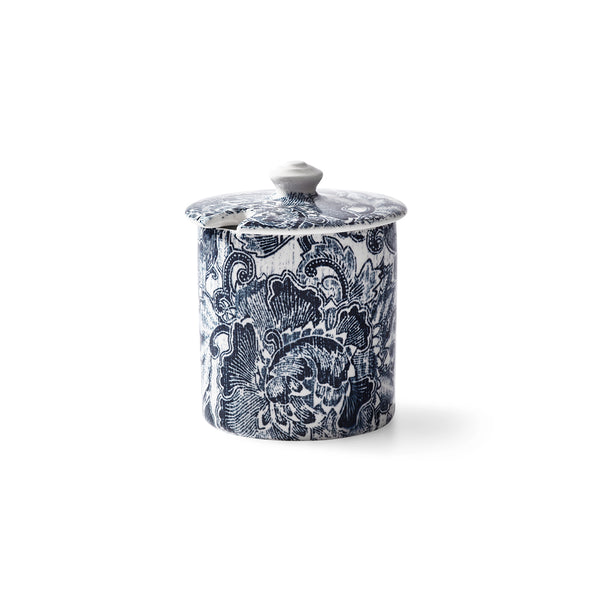 Faded Peony Indigo Sugar Pot