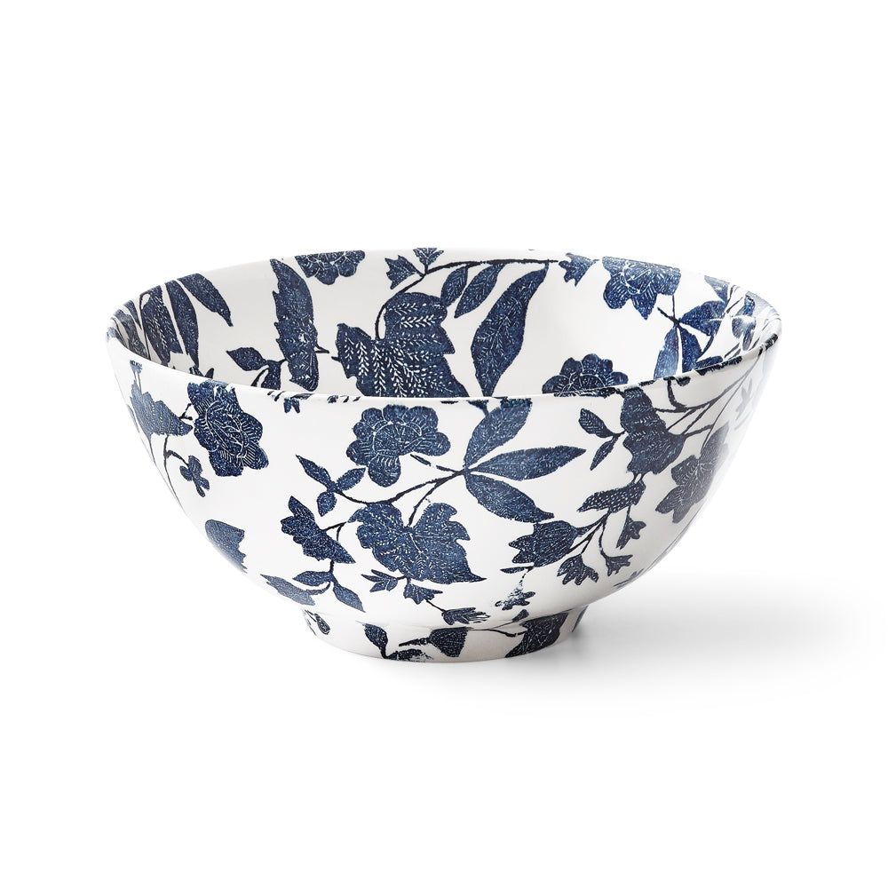 Garden Vine Indigo Footed Bowl