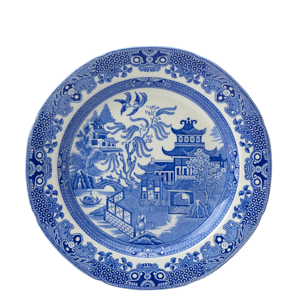 "Blue Willow Plate 26.5cm/10.5"" Seconds"