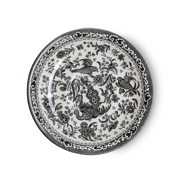 Breakfast Saucer - Black Regal Peacock Breakfast Saucer