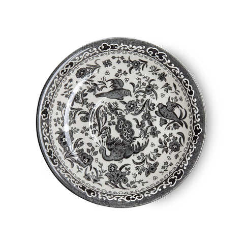 Black Regal Peacock Breakfast Saucer Seconds