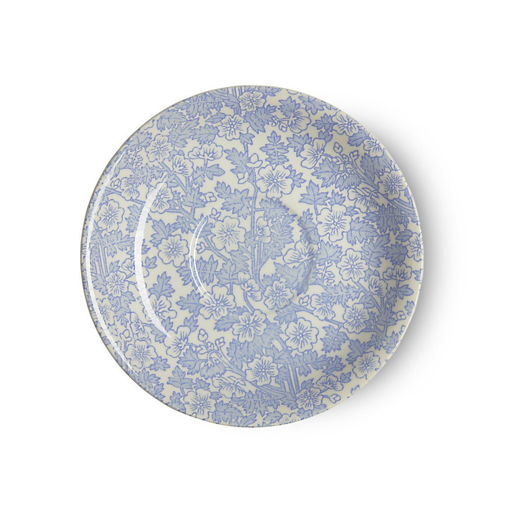 Breakfast Saucer - Blue Burgess Chintz Breakfast Saucer Seconds
