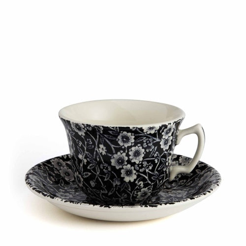 Soho Home Black Calico Teacup and Saucer