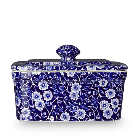 Blue Calico Butter Dish 400g/1lb Seconds