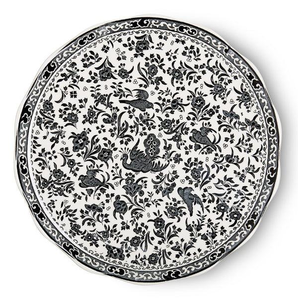 Cake Plate - Black Regal Peacock Cake Plate 28cm/11""