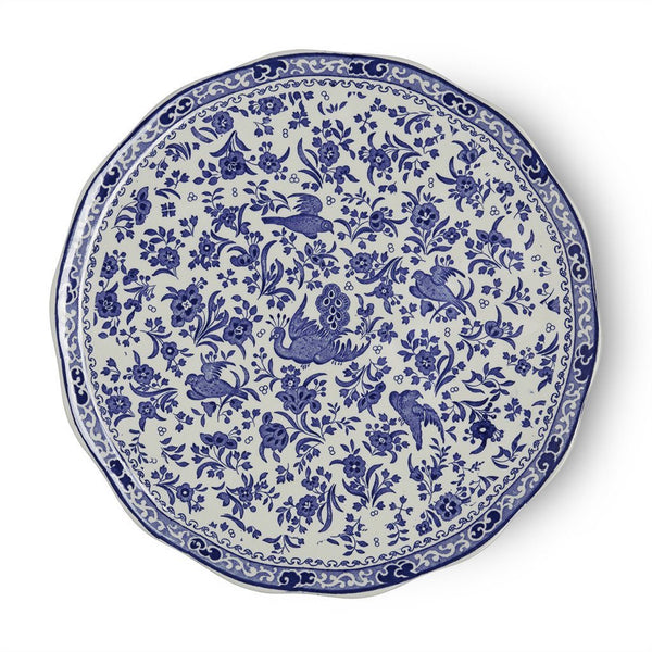 Cake Plate - Blue Regal Peacock Cake Plate 28cm/11""