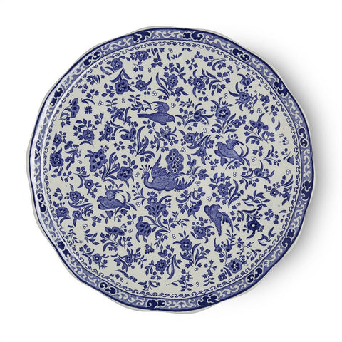 Blue Regal Peacock Cake Plate 28cm/11""