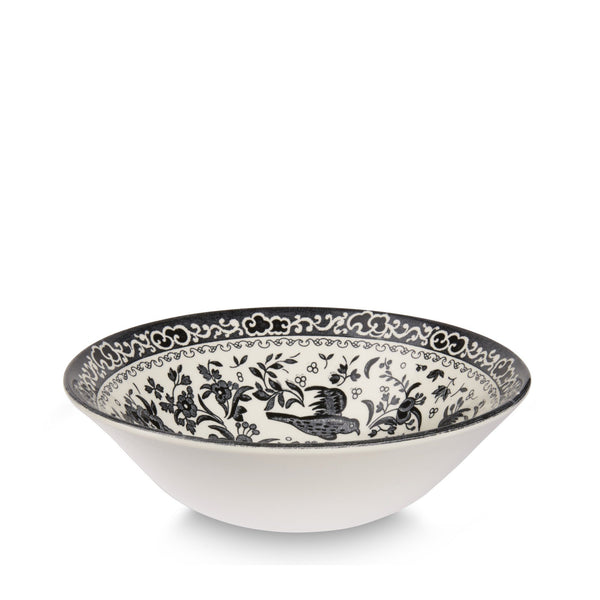 Cereal Bowl - Black Regal Peacock Cereal Bowl 16cm/6.25""