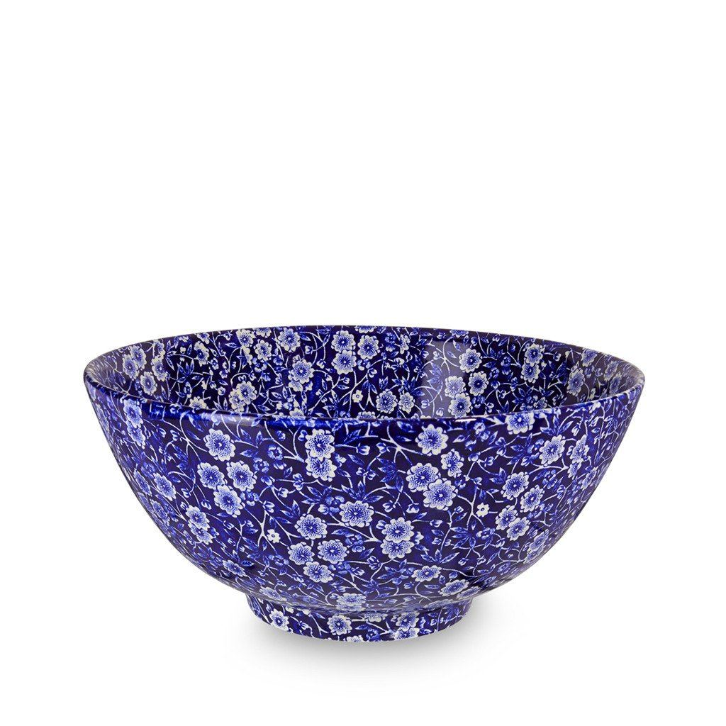 "Chinese Bowl - Blue Calico Large Footed Bowl 27.5cm/11"" Seconds"