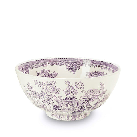 Plum Asiatic Pheasants Medium Footed Bowl 20.5cm/8""