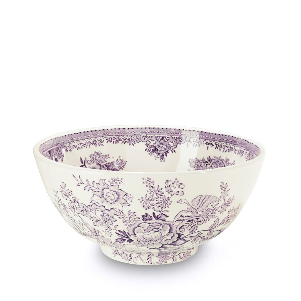 "Chinese Bowl - Plum Asiatic Pheasants Medium Footed Bowl 20.5cm/8"" Seconds"