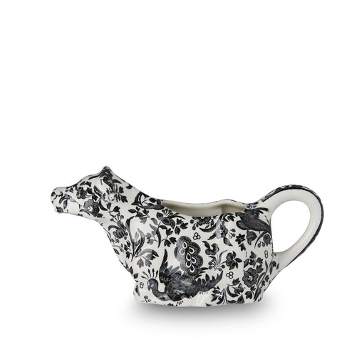 Black Regal Peacock Cow Creamer 150ml/0.25pt Seconds