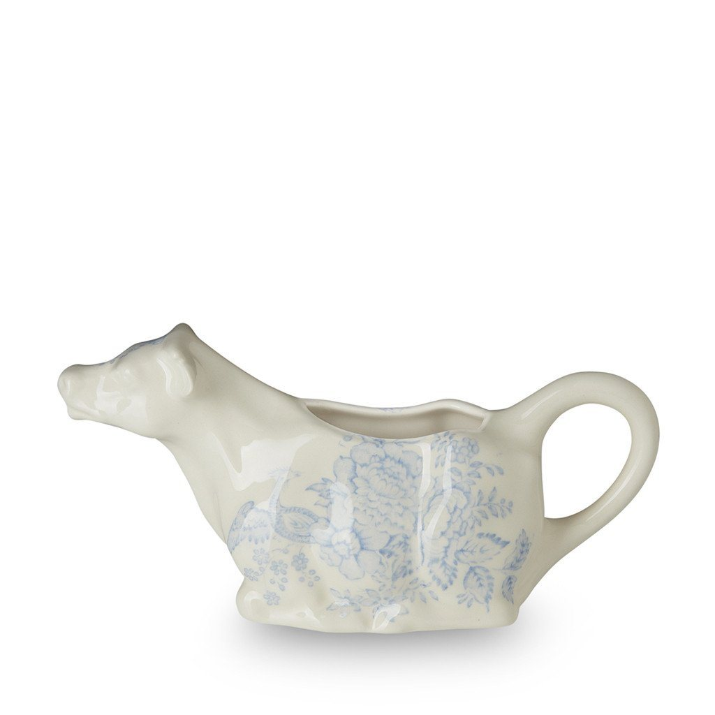 Cow Creamer - Blue Asiatic Pheasants Cow Creamer 150ml/0.25pt Seconds