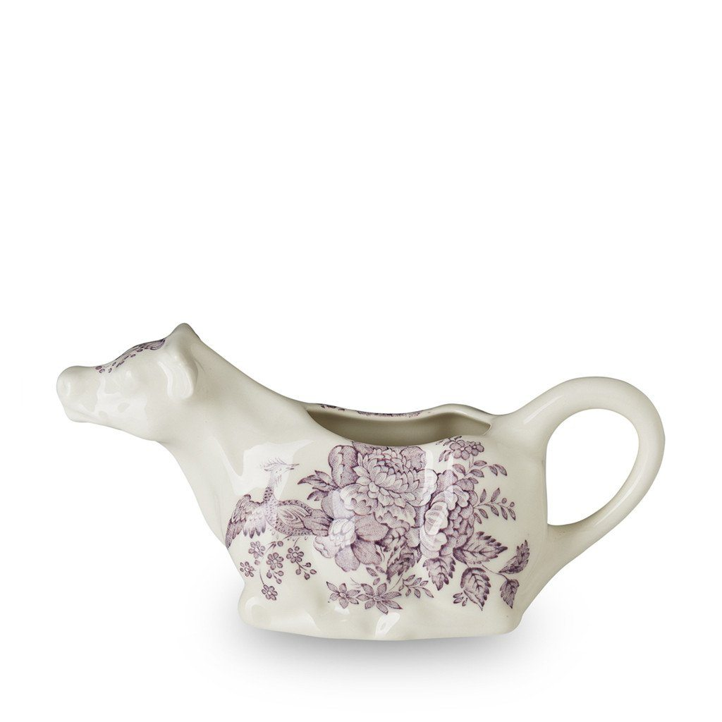 Cow Creamer - Plum Asiatic Pheasants Cow Creamer 150ml/0.25pt Gift Boxed