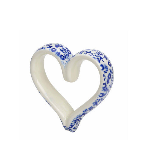 Dark Blue Felicity Heart Handle Bauble