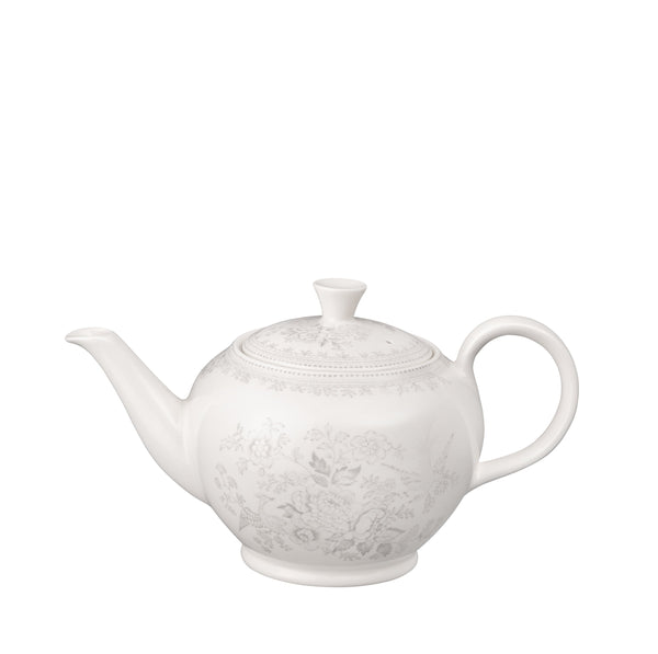 Dove Grey Asiatic Pheasants Large Teapot