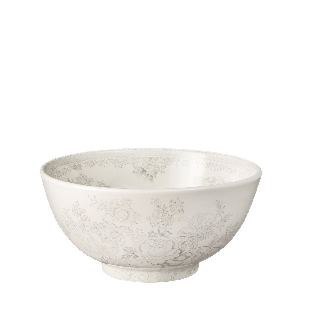 Dove Grey Asiatic Pheasants Medium Footed Bowl