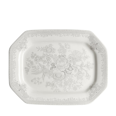 Dove Grey Asiatic Pheasants Rectangular Platter