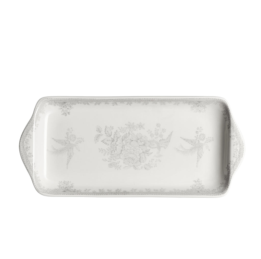 Dove Grey Asiatic Pheasants Rectangular Tray